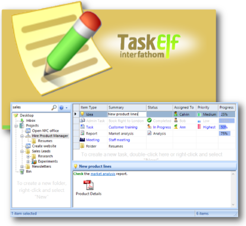 TaskElf To-Do List Software